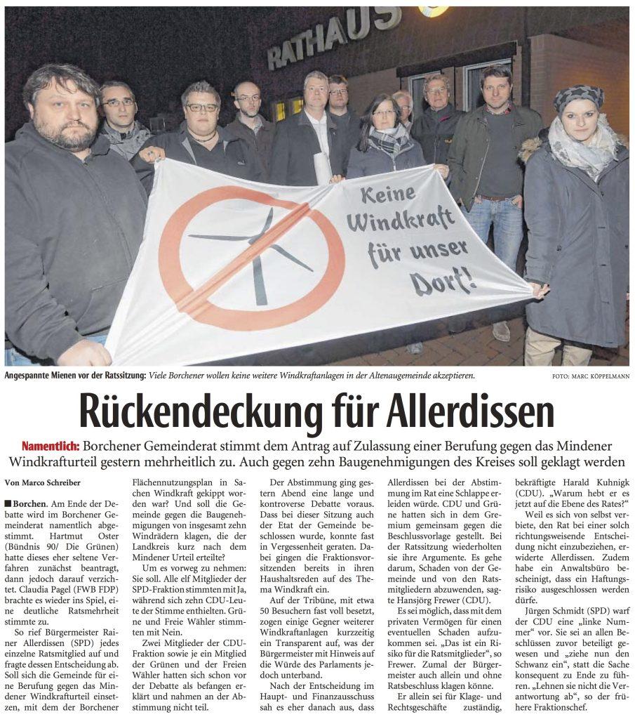 Gemeinde Borchen: CDU knickt bei Windkraftklagen ein